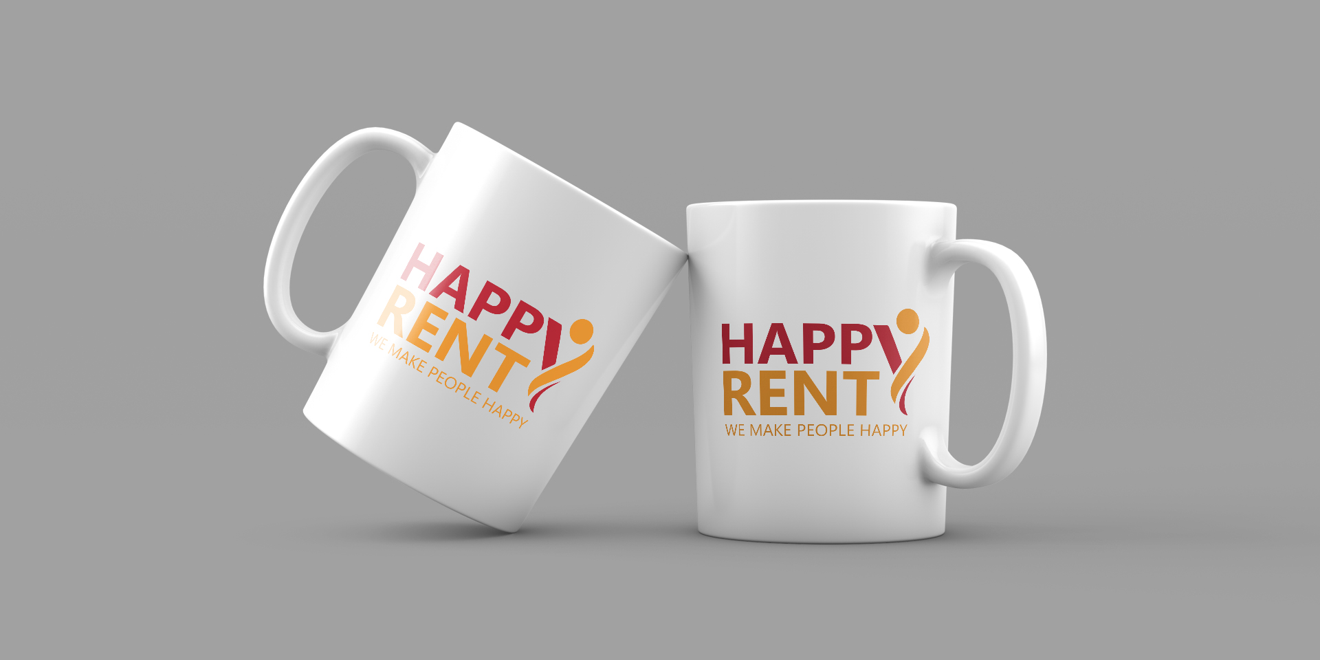 Брандирани чаши за Happy Rent