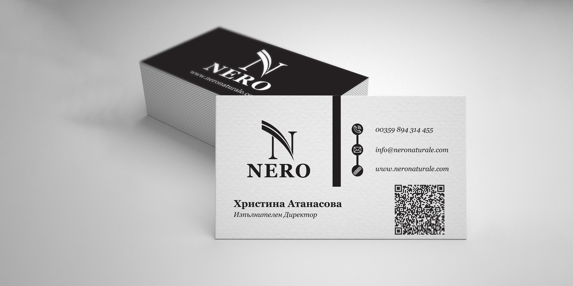 Nero for men визитки