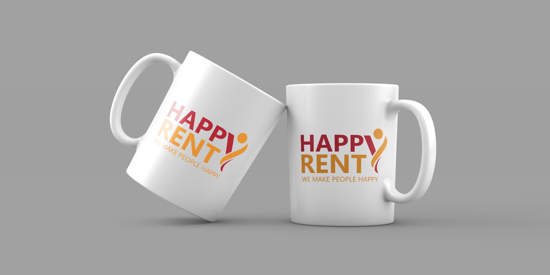 Брандирани чаши за Happy Rent